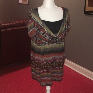 CATO size XL Aztec print  top CUTE FOR FALL!